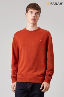 Farah Orange Pickwell Garment Dyed Sweat
