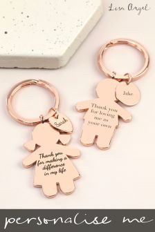 Personalised Boy Girl Charm Keyring by Lisa Angel