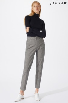 Jigsaw Black Silk Cotton Polo Neck Sweater