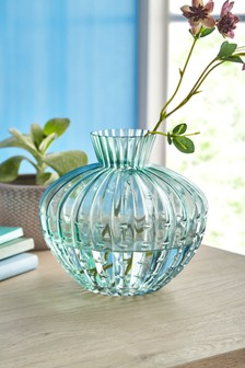 Ribbed Glass Vase