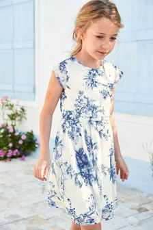Floral Bow Dress (3-16yrs)