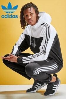 adidas Originals Black/White Overhead Windbreaker