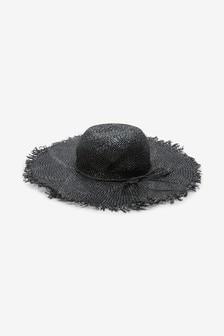 Raw Edge Floppy Hat