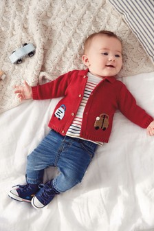 Embroidered Car Cardigan (0mths-2yrs)