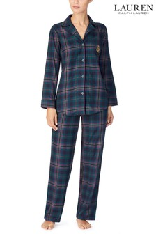 Lauren Ralph Lauren Green Plaid Pyjama Set