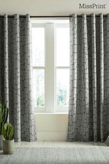 MissPrint Little Trees Eyelet Curtains