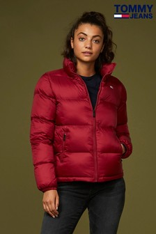 Tommy Jeans Red Classic Quilted Jacket