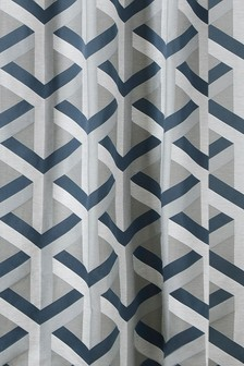 Optical Geo Jacquard Curtains Fabric Sample
