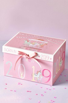 Born In 2019 Baby Girl Keepsake Box