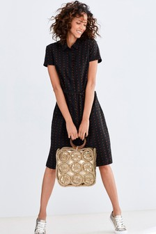 fa21622ab Textured Shirt Dress