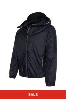 Emporio Armani Boys Navy Hooded Jacket