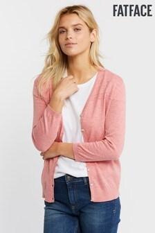 FatFace Pink Organic Rose Cardigan