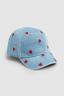 Strawberry Embroidered Cap (小)