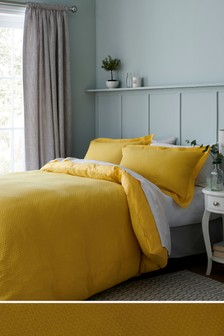 Chunky Waffle Duvet Cover and Pillowcase Set