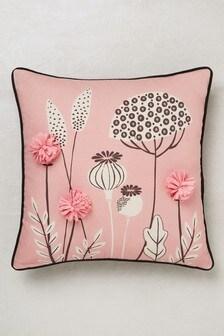 Seedpod Pom Cushion