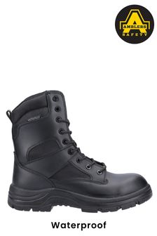Amblers Safety Black Combat Waterproof Lace-Up Boots