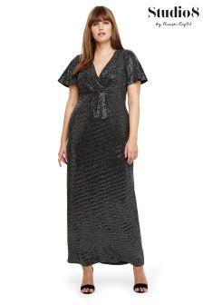 Studio 8  Black Galaxy Sparkle Maxi Dress