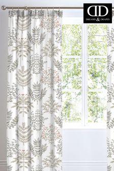 D&D Natural Emily Pencil Pleat Curtains