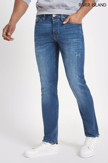 River Island Blue Slim Wash Jeans