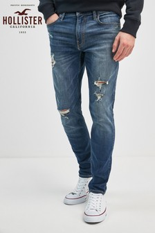 Hollister Dark Wash Destroy Skinny Fit Jean