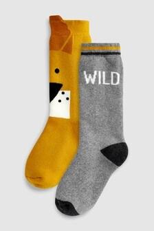 Lot de deux paires de chaussettes thermiques hautes (Enfant)