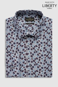Liberty Fabrics Bramble Blossom Slim Fit Shirt
