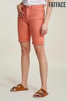 FatFace Orange Garment Dye Bermuda Short
