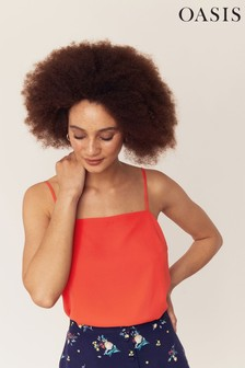 Oasis Red Square Neck Cami