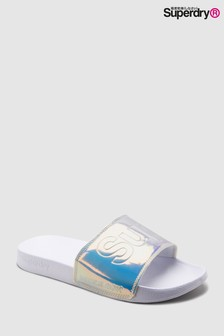 Superdry White Holographic Slider