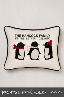 Personalised Penguins Cushion