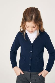 Bow Pocket Cardigan (3-16yrs)