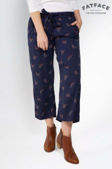 FatFace Navy Blossom Ditsy Printed Crop Trouser