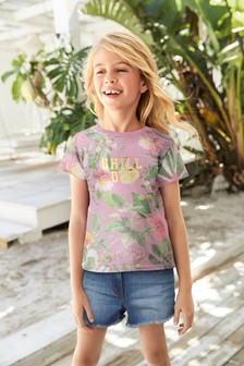 All Over Print Chill Out T-Shirt (3-16yrs)