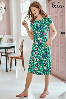 Boden Green Amelie Jersey Dress