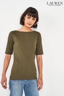 Lauren Ralph Lauren® Khaki Judy Top