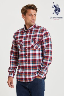 U.S. Polo Assn. Red Forest Check Shirt