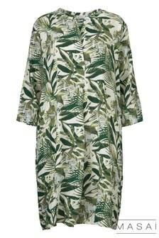 Masai Green Print Natalia Dress