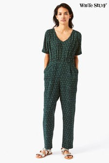 White Stuff Green Beach Walk Jumpsuit