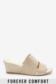 e43909230d9 Forever Comfort Mule Wedges