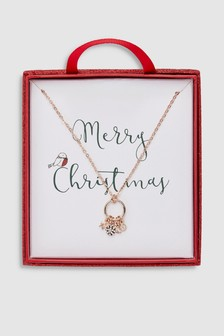 Festive Circle Charm Necklace