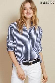 Baukjen Navy & White Stripe Shirting Madeline Shirt