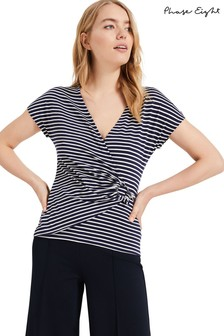 Phase Eight Blue Alexa Stripe Top