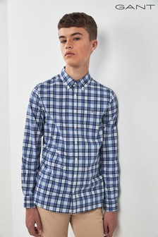GANT Teen Blue Tech Prep Check Shirt