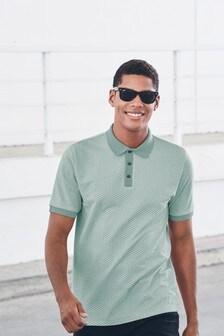 Рубашка поло из текстурированной ткани