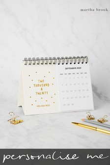Personalised Gold Sprinkle Calendar by Martha Brook