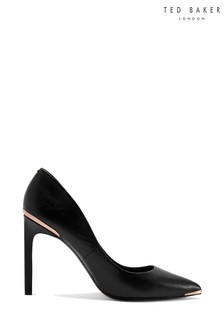 Ted Baker Black Leather Court Shoes