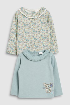Mouse Long Sleeve Tops Two Pack (3mths-7yrs)