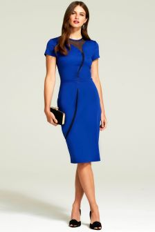 HotSquash Royal Blue River Ponte Dress