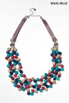 White Stuff Blue Multi Monobead Necklace