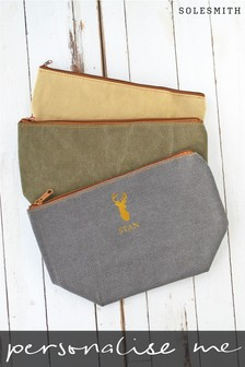 Personalised Stag Washbag by Solesmith